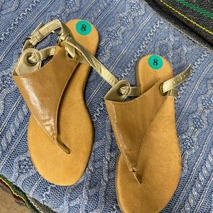 COPY - Brand New Tan and Gold Sandals